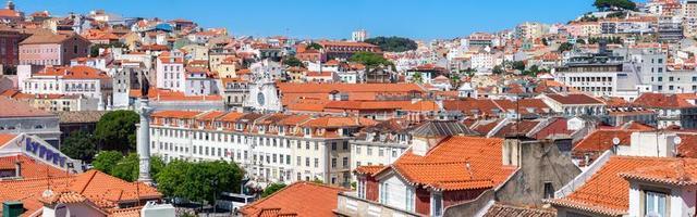 panorama da cidade histórica de lisboa, portugal