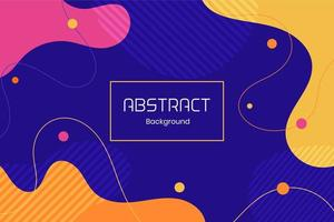 Flat Colorful Dynamic Fluid Shapes Abstract Background vector