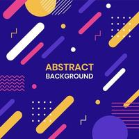 Abstract Geometric Memphis Style Background vector