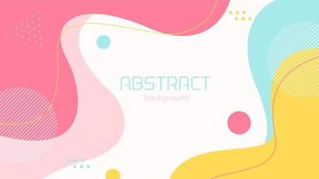 Abstract Flat Dynamic Colorful Fluid Shapes Background vector