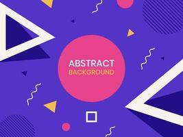fondo abstracto geométrico estilo memphis vector