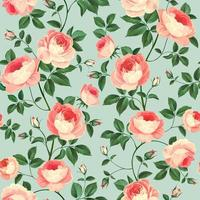 Vintage Watercolor Roses Background