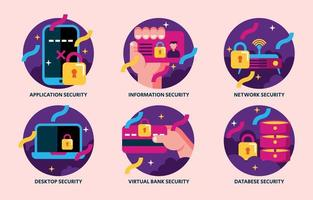 Types Of Cyber Security to Keep in Mind vector