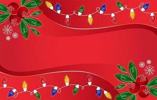 fondo de navidad con elementos festivos vector