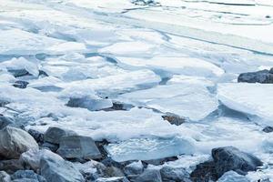 rocas y paisaje de hielo glacial