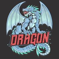 Dragon full body with text