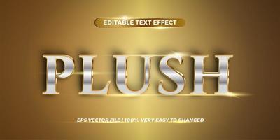 más efecto de texto editable metálico vector
