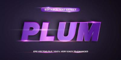 Plum Editable text effect style vector
