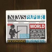 Realistic newspaper template vector