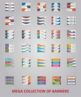 diseños de plantillas de banner moderno para web vector
