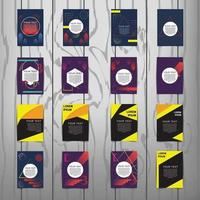 Collection of brochure cover templates with abstract designs vector
