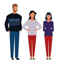 Group of friends standing together vector