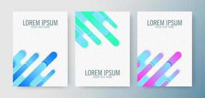cubierta de formas abstractas redondas en color degradado vector