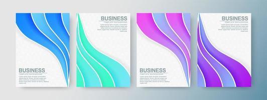cubierta de ondas abstractas modernas en colores degradados vector