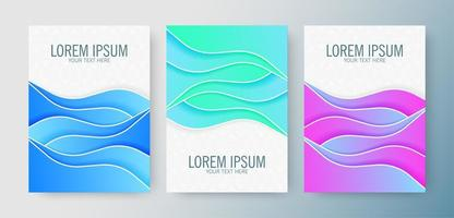 Cover of modern abstract waves in gradient colors