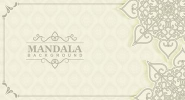 White mandala background concept vector