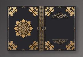 layout e design elegante de livro vintage vetor