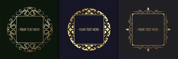 Luxury ornamental frame collection vector