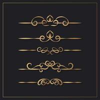 Elegant vintage ornamental design elements