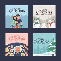 Collection of Christmas Postcards Greetings