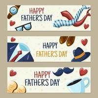 Father's Day Celebration Web Banner vector