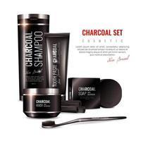 Charcoal cosmetics advertisement banner
