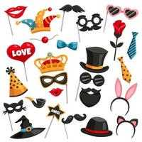 Photo booth party set vector