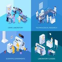 Isometric laboratory composition set vector