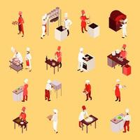 Isometric professional cooking set vector