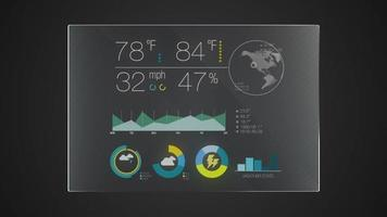 Information graphic technology panel 'Weather' user interface digital display application.