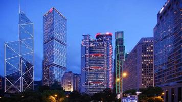 Hong Kong's Admiralty time-lapse at blue hour