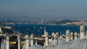 Istanbul. Sea traffic in Bosphorus strait