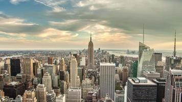 giorno di New York City al tramonto
