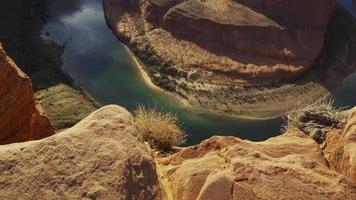 Cañón de la Herradura en el suroeste de los Estados Unidos. video
