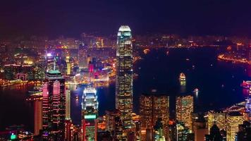 time-lapse heure bleue de hong kong video