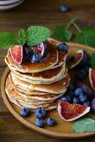 stack pancakes with figs