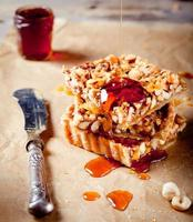 Nuts,maple syrup and honey caramel tart