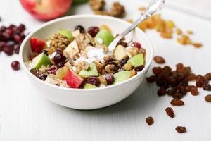 Cranberry raisins apple cereal