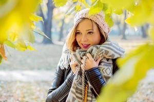 Beauty autumn portarit.