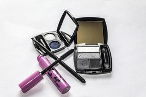 Cosmetics on white background photo