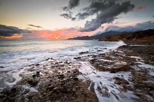 costa del sur de creta. foto