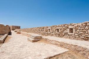 el muro de la fortezza en creta, ciudad de rethymnon. Grecia. foto