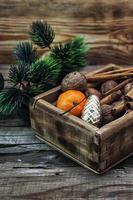 box of treats for the Christmas table photo