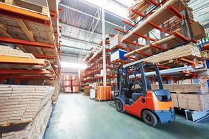 forklift loader at warehouse