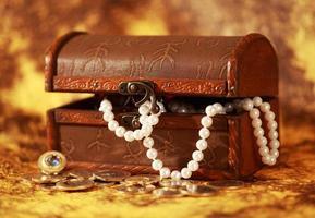 Treasure chest full of jewelry