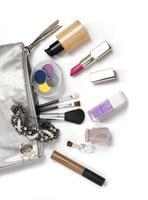 cosmetics on white photo