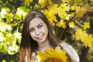 Portrait in autumn park photo