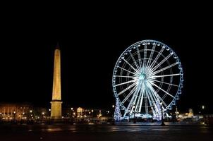 Big wheel and obelisk de la Concorde