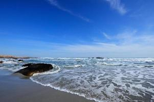 Gentle waves on the shore of the Atlantic ocean photo