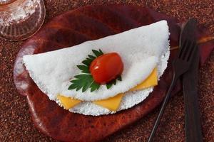 casabe (bammy, beiju, bob) de mandioca (tapioca) foto